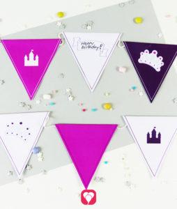 Märchenschloss Wimpelkette für kleine Prinzessinnen