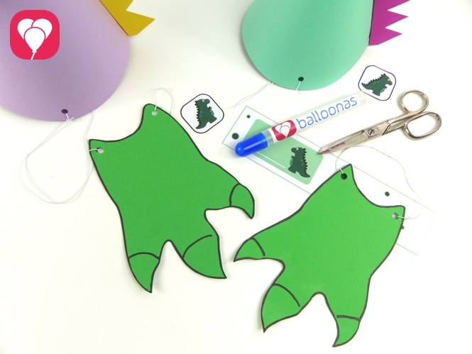 Party Accessoires: Dino Party Spiele - balloonas