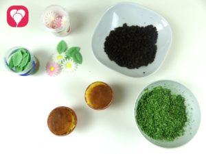 Blumen Muffins - Zutaten
