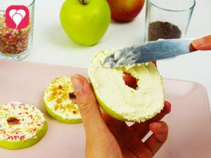 Apfel Donut als gesunder Donut - balloonas