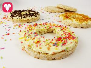 Reiswaffel Toppigs für gesunde Donuts - balloonas