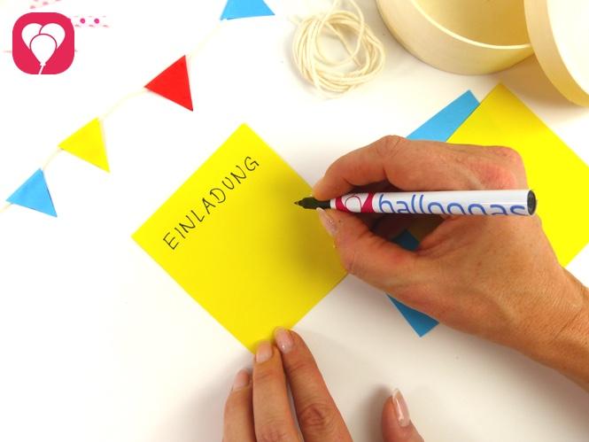 Party in a Box Einladung schreiben