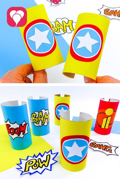 Superhelden Armband basteln - ballonas