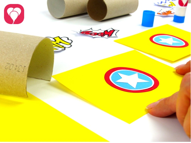 Superhelden Party Spiele und Verkleidung Klorolle