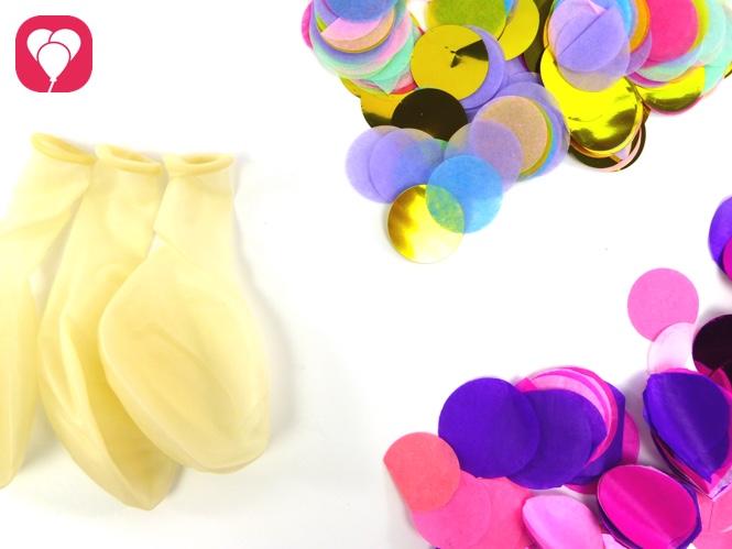 Konfetti Ballons selbst machen - das brauchst Du