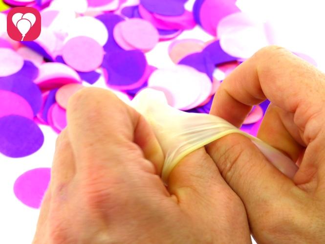 Konfetti Ballons selbst machen - balloonas
