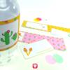 Lama Flaschenetiketten und Becherschilder - Schritt 3 aufkleben