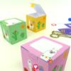 Deine fertige Lama Geschenkbox in verschiedenen Farben