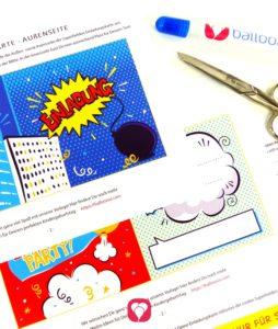 Superhelden Einladungskarte - das brauchst Du
