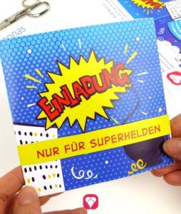 Superhelden Einladungskarte - Deine Einladungskarte ist fertig