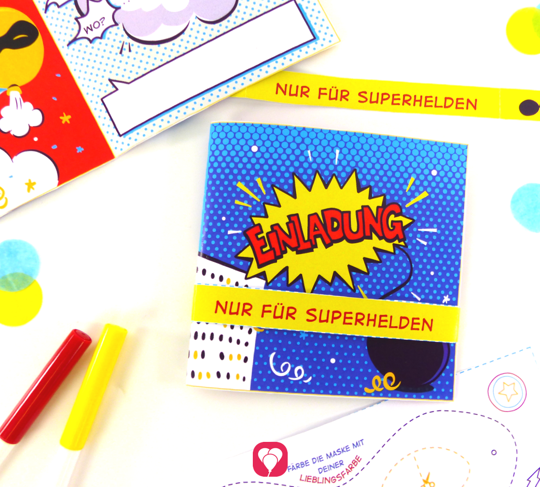 So laden richtige Superhelden zum Geburtstag