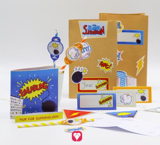Superhelden Geburtstagspaket Basic - balloonas