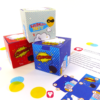 Deine Superhelden Geschenkbox in vier verschiedenen Farben