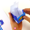 Superhelden Geschenkbox Schritt 4 - kleben