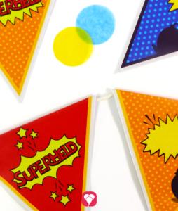 Superhelden Wimpelkette - balloonas