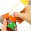 Dino Einadungskarte - Innenseite mit Einladungstext zum Herausziehen