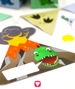 Dino Einladungskarte - balloonas
