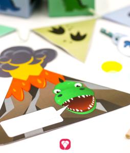 Dino Einladungskarte im Dino Geburtstagspaket Basic