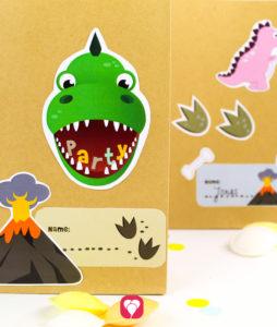 Dino Geburtstagspaket Basic - Geschenkaufkleber