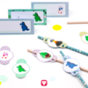 Dino Tischkarten und Strohhalmdeko - balloonas