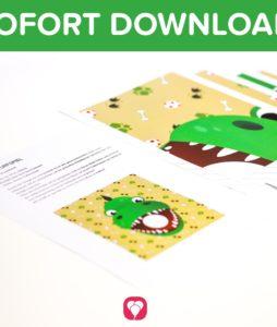 Dino Wurfspiel zum Download