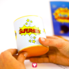 Superhelden Candy Bar - Becher kleben