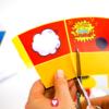 Superhelden Candy Bar - kleine Snack Tüte schneiden