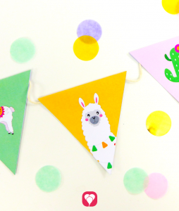 Lama Garland for your birthday party