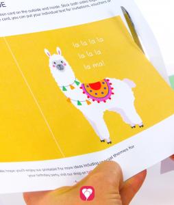 Lama Invitation Card for crafting