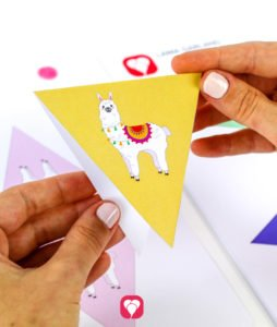Llama Garland - folded pennant