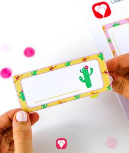 Llama Place Cards and Straws - place cards