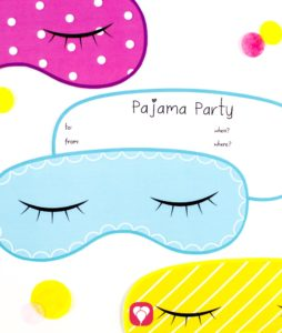 Pajama Party Invitation Card - balloonas