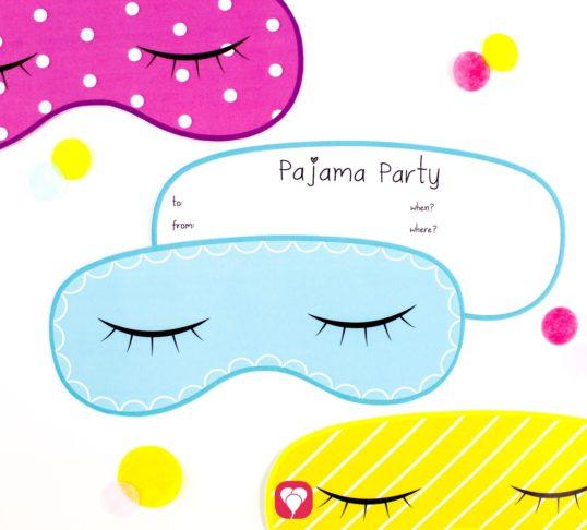 Pajama Party Invitation Card - balloonas