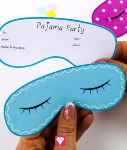 Pajama Party Invitation - front and back