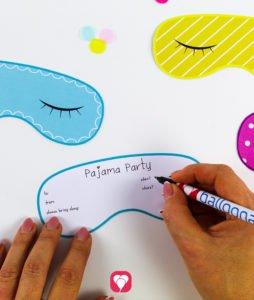 Pajama Party Invitation - write the invitation text