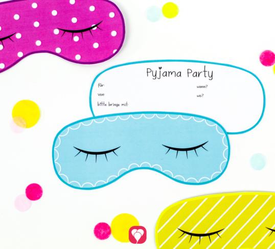 Pyjama Party Einladung - balloonas