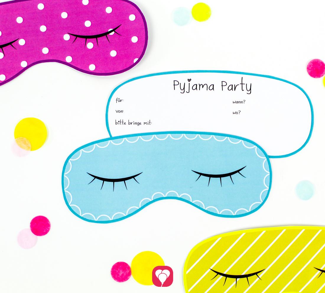 Pyjama Party Einladung Fur Deinen Kindergeburtstag Balloonas Com