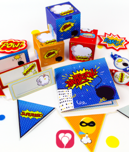 Superhero Birthday Package basic - balloonas