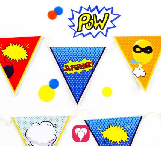 Superhero Garland - balloonas