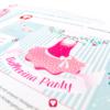 Ballerina Einladung - Innenseite