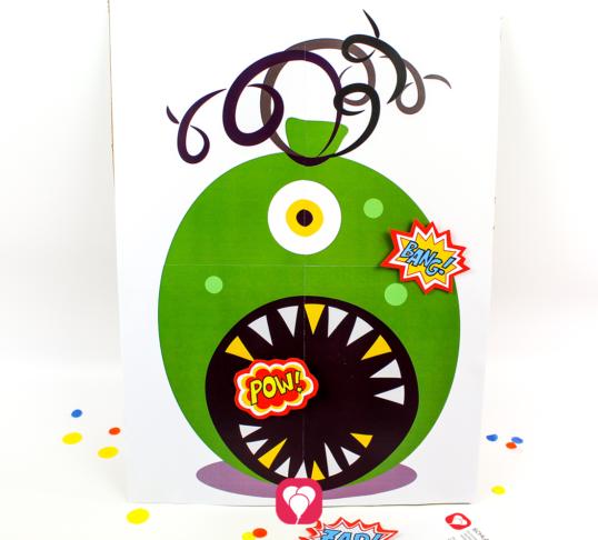 Superhelden Spiel - Schlag den Bösewicht - balloonas