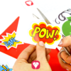 Superhelden Spiel - Superkräfte Pins ausschneiden