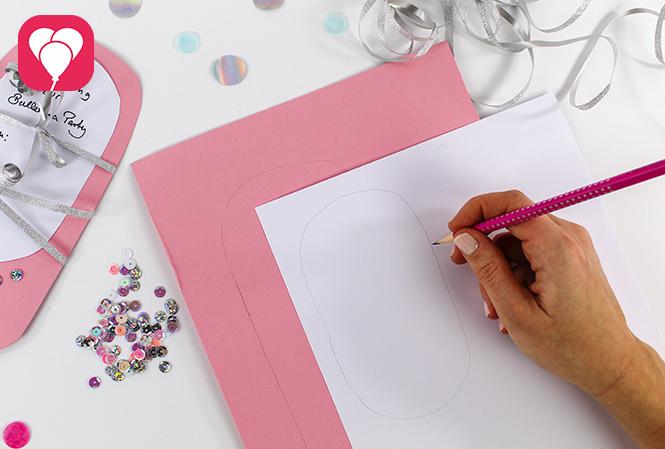Ballerina Einladung selbst machen - Schablone erstellen