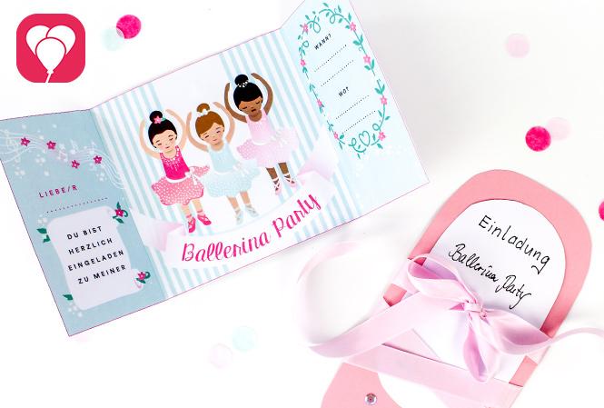 Ballerina Einladung selbst machen - balloonas Shop