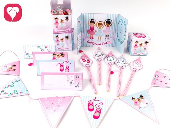 Ballerina Geburtstagspaket - balloonas
