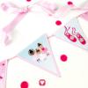 Ballerina Geburtstagspaket basic - Girlande