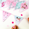 Ballerina Garland - glue the pennants on a string