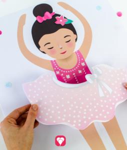 Ballerina Party Game - dress your ballerina
