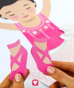 Ballerina Spiel - Accessoires ausschneiden