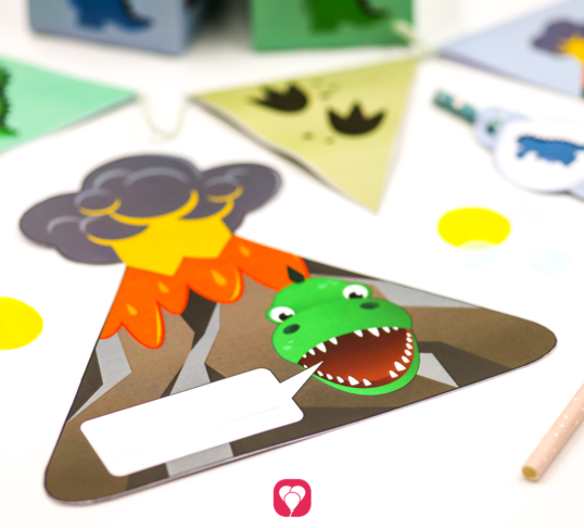Dinosaur Invitation Card - balloonas